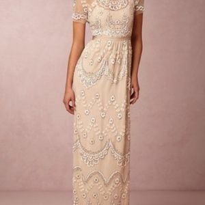 BHLDN Needle & Thread Tiered Petal Dress